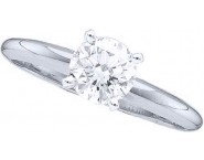 Diamond Solitaire Ring 14K White Gold 0.75 cts DSRR-075