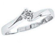 Ladies Diamond Solitaire Ring 10K Gold 0.10 cts. GS-22947
