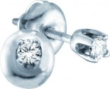 14K White Gold Diamond Stud Earrings GD-51008