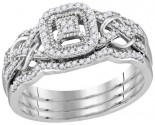 Ladies Three Piece Set 10K White Gold 0.25 cts. GD-114230