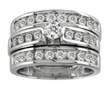Ladies Three Piece Set 14K White Gold 1.42 cts. CL-21519