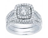 Ladies Three Piece Set 14K White Gold 1.30 cts. CL-33576