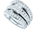 Ladies Three Piece Set 14K White Gold 2.00 ct. GD-38837