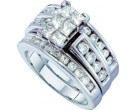 Ladies Three Piece Set 14K White Gold 2.00 ct. GD-38842