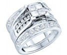 Ladies Three Piece Set 14K White Gold 2.00 ct. GD-38854