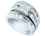 Ladies Three Piece Set 14K White Gold 2.00 ct. GD-40340