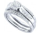 Ladies Three Piece Set 14K White Gold 0.25 cts. GD-45693