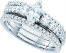 Ladies Three Piece Set 14K White Gold 1.00 ct. GD-47476