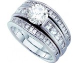 Ladies Three Piece Set 14K White Gold 2.36 cts. GD-47768
