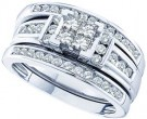 Ladies Three Piece Set 14K White Gold 1.04 cts. GD-44404