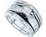 Ladies Three Piece Set 14K White Gold 1.00 ct. GD-53161