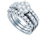 Ladies Three Piece Set 14K White Gold 2.00 ct. GD-67210