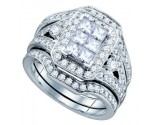 Ladies Three Piece Set 14K White Gold 2.00 ct. GD-67291