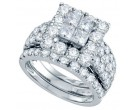 Ladies Three Piece Set 14K White Gold 4.00 ct. GD-69167