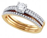 Ladies Three Piece Set 14K Yellow Gold 0.75 cts. GD-69781