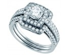 Ladies Three Piece Set 14K White Gold 1.00 ct. GD-70294