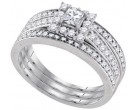 Ladies Three Piece Set 14K White Gold 0.85 cts. GD-86908