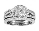 Ladies Three Piece Set 14K White Gold 1.40 cts. GS-21200