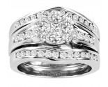 Ladies Three Piece Set 14K White Gold 1.50 cts. GS-21203