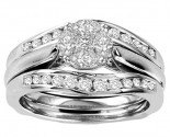 Ladies Three Piece Set 14K White Gold 1.00 ct. GS-21230