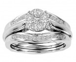 Ladies Three Piece Bridal Set 14K White Gold 1.00 ct. GS-21231