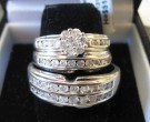 Three Piece Wedding Set 10K White Gold 1.36 cts. JJ-21802