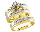 Three Piece Wedding Set 14K Two Tone Gold 0.50 cts. S20-5