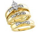 Three Piece Wedding Set 14K Yellow Gold 0.65 cts. S20-4