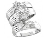 Three Piece Wedding Set 14K White Gold 0.33 cts. S20-10