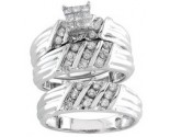 Three Piece Wedding Set 14K White Gold 1.00 cts. S20-11
