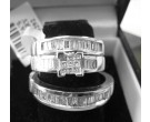 Three Piece Wedding Set 14K White Gold 2.06 cts. 6JPJ3292