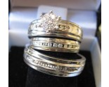 Three Piece Wedding Set 14K White Gold 0.90 cts. 6JSD184