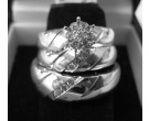 Three Piece Wedding Set 14K White Gold 0.50 cts. 6JSD204