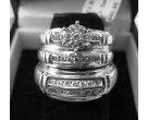 Three Piece Wedding Set 14K White Gold 0.80 cts. 6JSD207