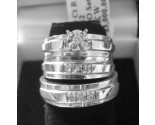Three Piece Wedding Set 14K White Gold 0.20 cts. 6JTI314