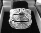 Three Piece Wedding Set 14K White Gold 0.50 cts. 6JU2112