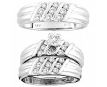 Three Piece Wedding Set 14K White Gold 0.73 cts. CL-16214