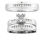Three Piece Wedding Set 14K White Gold 0.60 cts. CL-18263