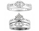 Three Piece Wedding Set 14K White Gold 0.53 cts. CL-18330