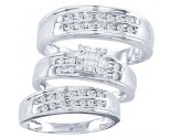 Three Piece Wedding Set 14K White Gold 0.52 cts. CL-20998