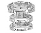 Three Piece Wedding Set 10K White Gold 0.60 cts. CL-26731