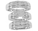 Three Piece Wedding Set 10K White Gold 0.35 cts. CL-26796