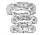Three Piece Wedding Set 10K White Gold 0.40 cts. CL-26799