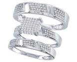 Three Piece Wedding Set 10K White Gold 0.50 cts. CL-29185