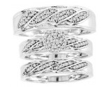 Three Piece Wedding Set 10K White Gold 0.33 cts. CL-29191