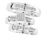 Three Piece Wedding Set 10K White Gold 0.40 cts. CL-29393