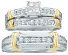Three Piece Wedding Set 14K Two Tone Gold 0.50 cts. GD-10207
