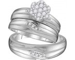 Three Piece Wedding Set 10K White Gold 0.39 cts. GD-110053