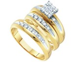 Three Piece Wedding Set 14K Yellow Gold 0.33 cts. GD-11765
