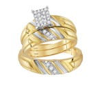 Three Piece Wedding Set 14K Yellow Gold 0.25 cts. GD-113977